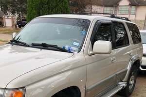 Houston police are looking for a vehicle, which was believed to be stolen from a gunshot victim on Dec. 16, 2018. The car is a 1998 Toyota 4Runner with TX license plates JTD-4883.