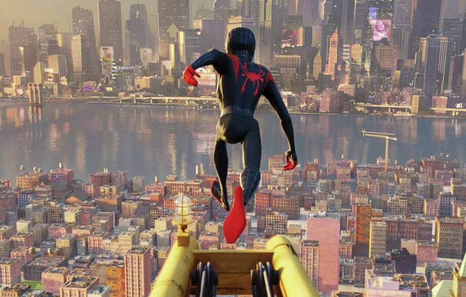 """Spider-Man: Into the Spider-Verse"" is the No. 1 movie in the country Photo: Sony Pictures Animation / © 2018 CTMG, Inc. All Rights Reserved. **ALL IMAGES ARE PROPERTY OF SONY PICTURES ENTERTAINMENT INC. FOR PROMOTIONAL USE ONLY. S"