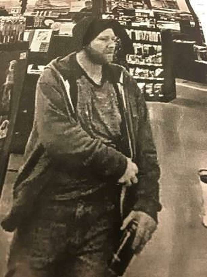 Police are asking the public to help them identify this suspect who they say stole a hammer drill from Home Depot in Stamford on Friday. Photo: Contributed Photo