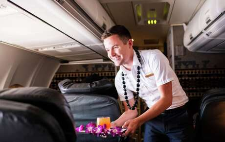 Inflight service on Alaska Airlines includes POG- pineapple, orange and guava juice, a Hawaiian staple Photo: Alaska Airlines