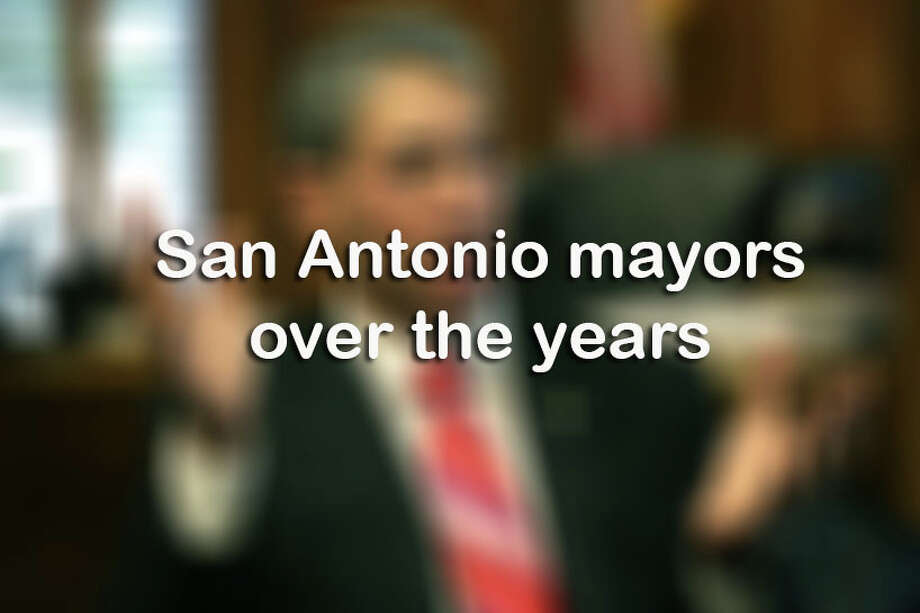 Click through the slideshow above for San Antonio mayors over the years.  Photo: Bob Owen, Staff / San Antonio Express-News / ©2017 San Antonio Express-News