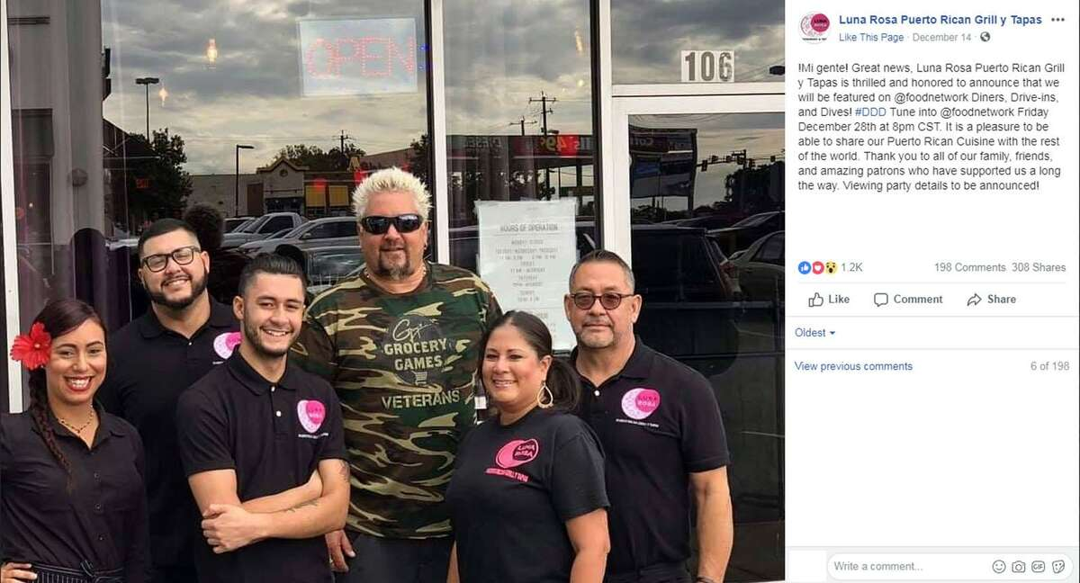 Click ahead to see all of the San Antonio restaurants Guy Fieri has visited.