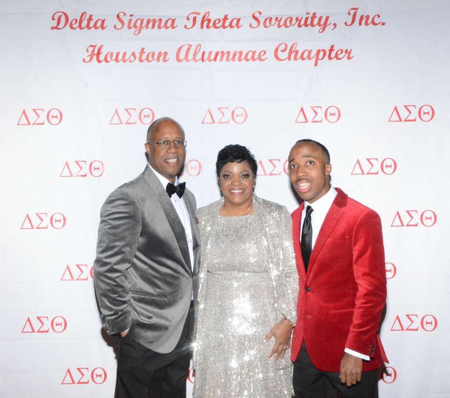 Delta Sigma Theta Sorority's 17th annual jazz soiree co-chair Angela Sterling, pictured with her husband, Norman Sterling, and son, Phillip. Photo: Joe Lebrane, Super Star Photography