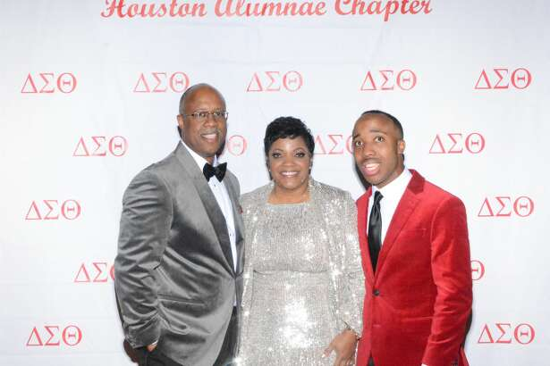 Delta Sigma Theta Sorority's 17th annual jazz soiree with co-chair Angela Sterling, pictured with her husband, Norman Sterling, and son, Phillip.