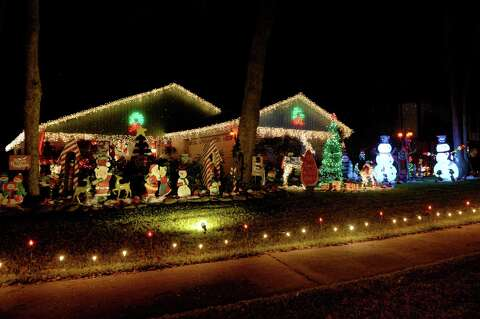 <p>Holiday lights displayed in Pecan Grove on Thursday, December 13, 2018 - Pecan Grove Bedecked For Holidays - Houston Chronicle