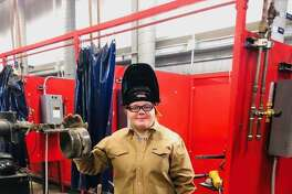 Cheyenne Kuta graduated with a certificate and associate degree in Welding Technology on Monday, Dec. 10, during Texas State Technical College's Commencement Ceremony at the Stafford Centre.