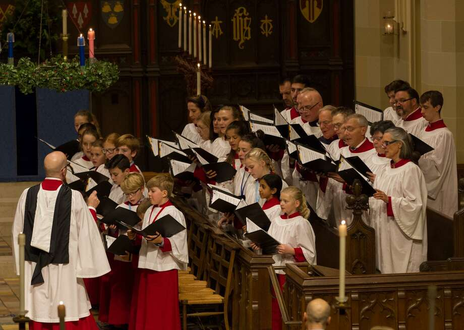 """""""Carols by Candlelight"""" drew hundreds to Christ Church in Greenwich Sunday evening. Photo: / Contributed"""
