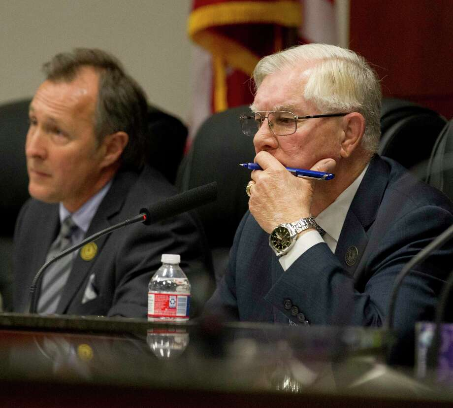 Conroe Mayor Toby Powell said he was in full support of a project to upgrade 26 intersections with flashing yellow turn arrows. Photo: Jason Fochtman, Houston Chronicle / Staff Photographer / © 2018 Houston Chronicle