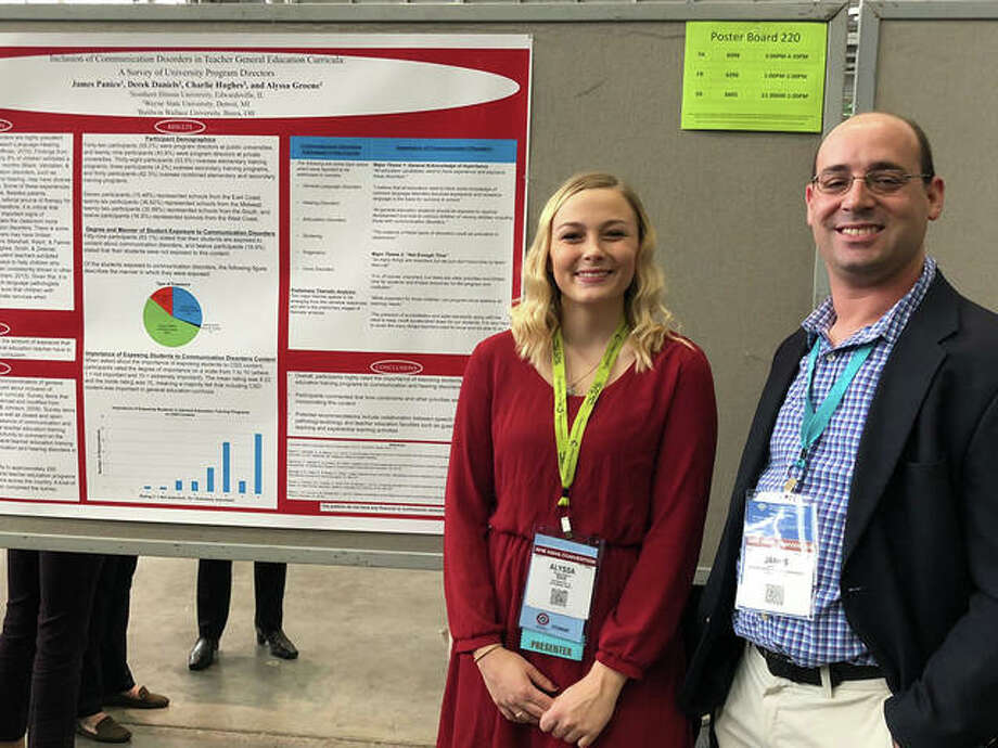 SIUE senior Alyssa Groene presented her research alongside James Panico, PhD, at the American Speech, Language and Hearing Association's (ASHA) annual convention. Photo: For The Intelligencer