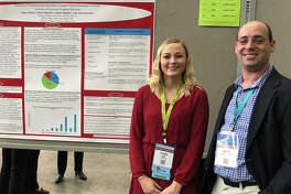 SIUE senior Alyssa Groene presented her research alongside James Panico, PhD, at the American Speech, Language and Hearing Association's (ASHA) annual convention.