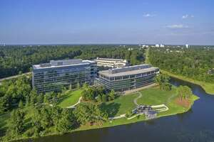 """The Howard Hughes Corp. will reposition the former Chicago Bridge & Iron campus in The Woodlands as """"Lake Front North in Hughes Landing."""" Totaling 257,025 square feet, the two buildings are on 12.92 acres on the north side of Lake Woodlands at 2103 Research Forest Drive. The site includes 3.4 acres for future development."""