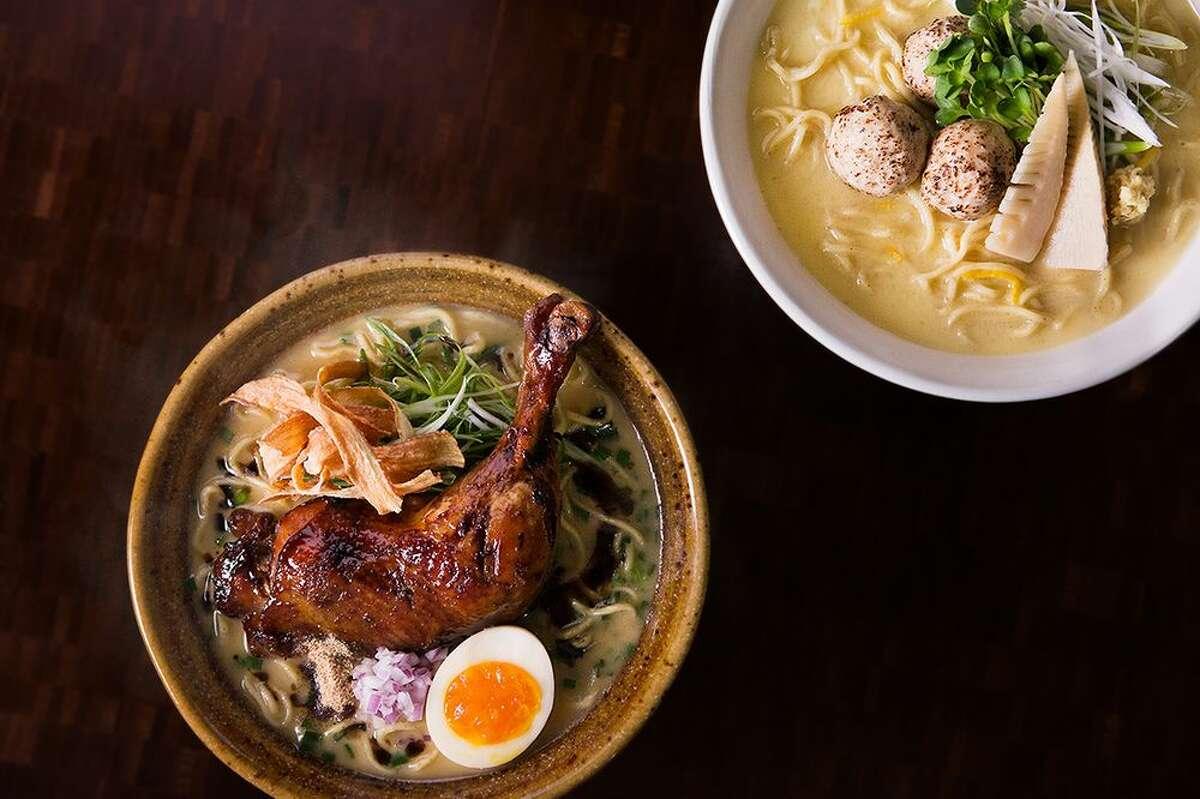 Nojo Ramen Tavern Nojo Ramen Taven brings ramen and Izakaya small plates in a trendy setting. Unlike most Bay Area ramen spots, Nojo focuses on chicken paitan ramen. Find them:231 Franklin St.| Contact:(415) 896-4587,nojosf.com