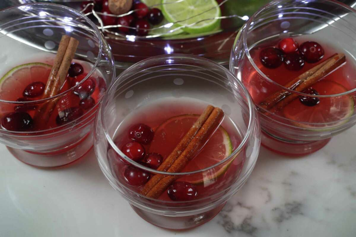 """""""Chut, c'est un secret"""" is a holliday punch created by Kimberly Paul, beverage director for Brasserie du Parc."""
