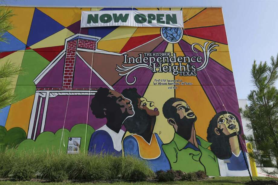 The Whole Foods Market 365 mural reflects the African American roots of the Independence Heights on Wednesday, Aug. 22, 2018, in Houston. Photo: Yi-Chin Lee,  Houston Chronicle / Staff Photographer / © 2018 Houston Chronicle