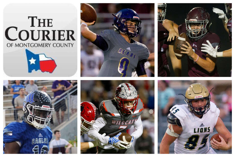 Brock Bolfing (Montgomery), Travis Moore (Magnolia), D.J. Harris (New Caney), Tyler Gamble (Splendora) and Dayeton Sweeting (Lake Creek) are The Courier's nominees for Newcomer of the Year. Photo: Staff Photos