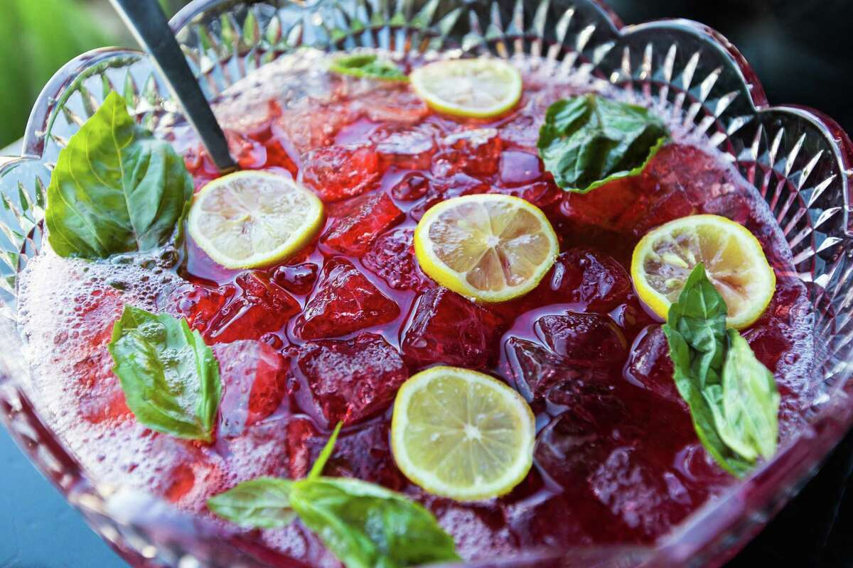 Stone's Throw bar on Westheimer serves punch daily. It can be had by the glass, half bowl or full bowl.