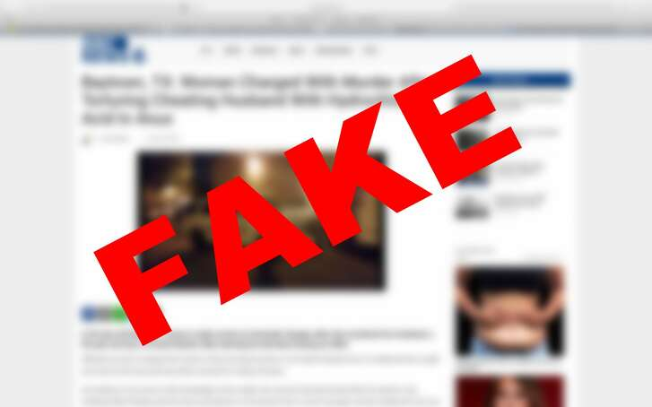Baytown police officials are denouncing a fake news article claiming a brutal murder took place in the city.