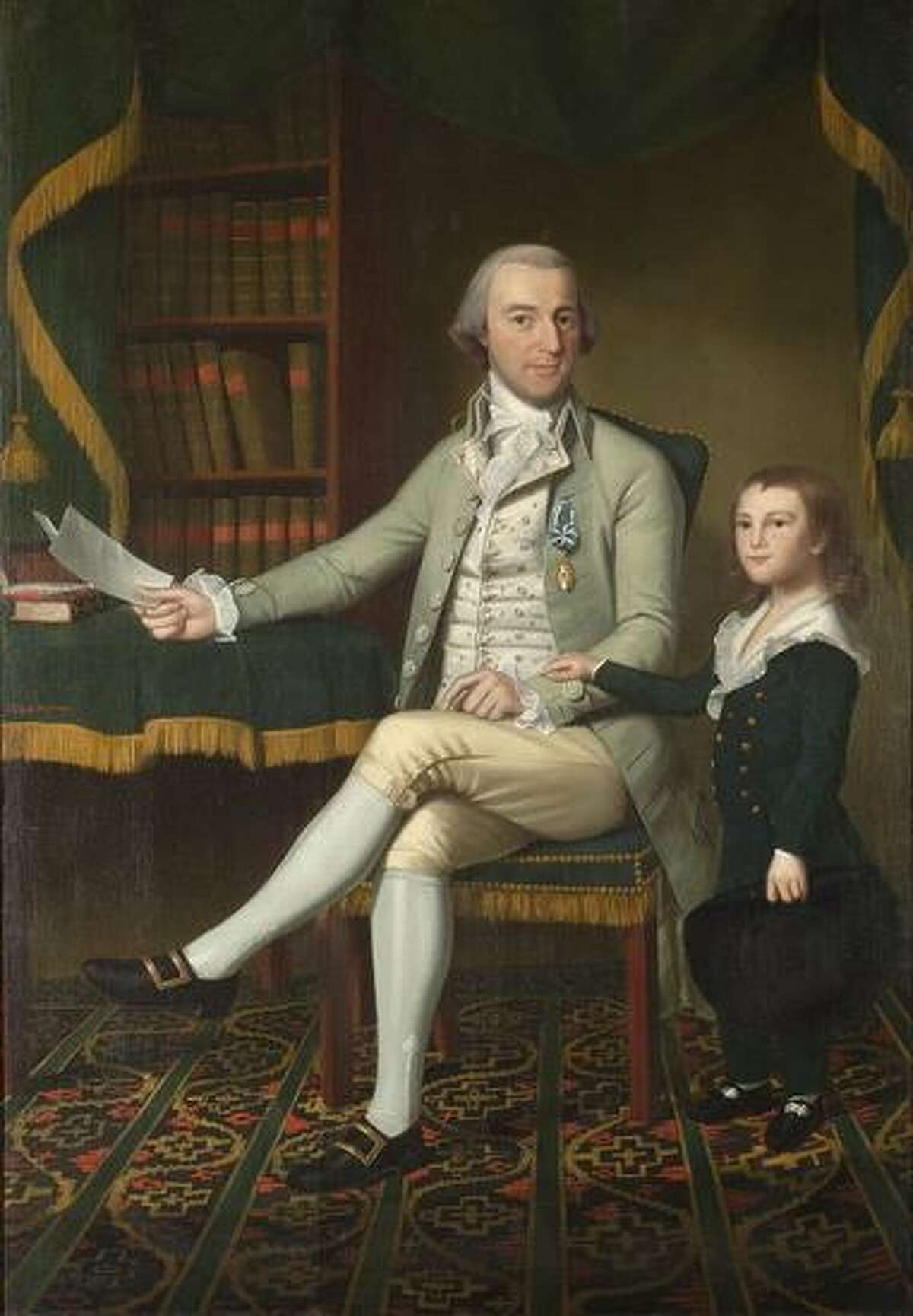 Benjamin Tallmadge, in a painting provided by the Litchfield Historical Society.