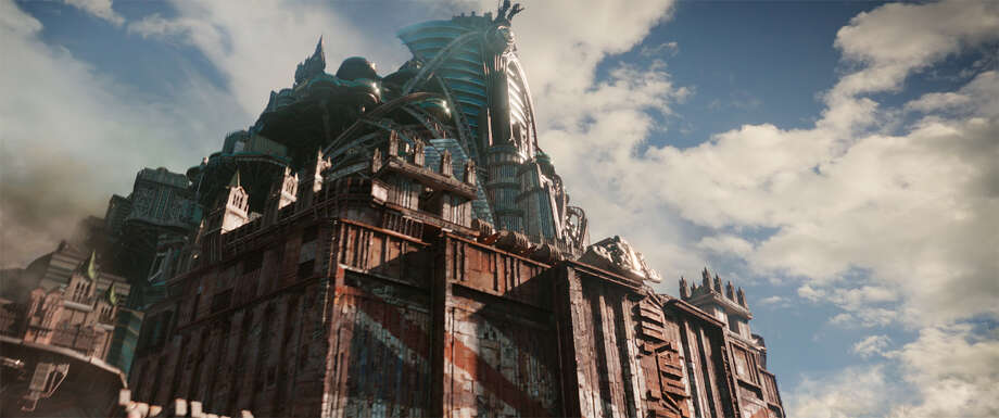 In ?Mortal Engines,? set hundreds of years after a cataclysmic event has destroyed civilization, roving ?predator cities? on caterpillar treads, including London (seen here), devour everything in their paths. MUST CREDIT: Universal Pictures Photo: Universal Pictures / Copyright: © 2018 Universal Studios.