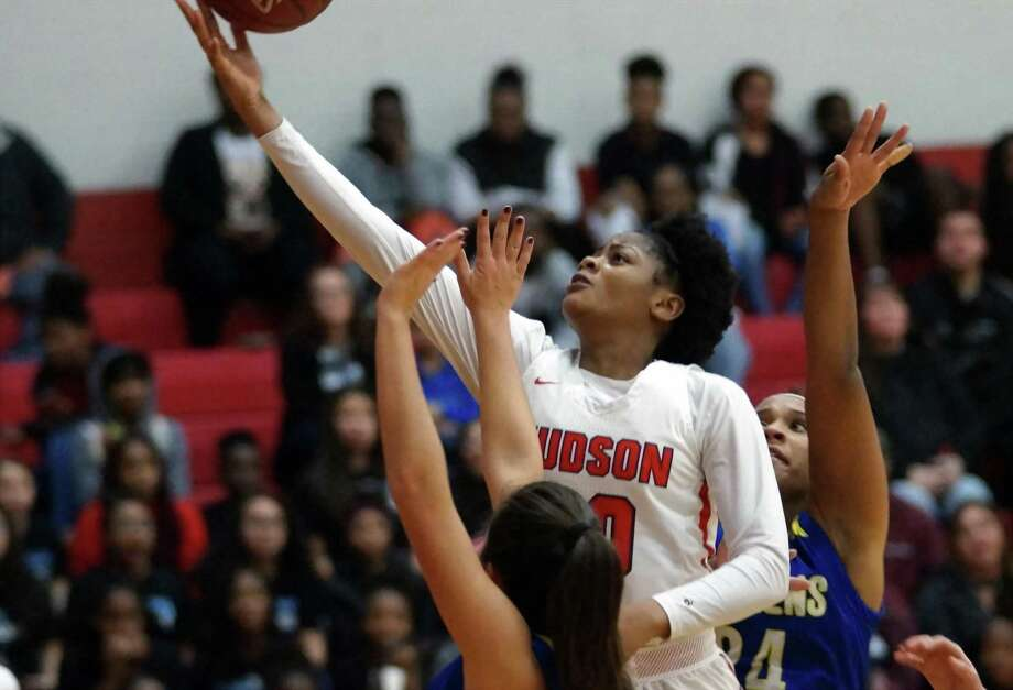 Judson's Kierra Sanderlin glides toward the basket for two more of her game-high 27 points Friday, as Judson dominated Clemens, 85-41, at home in District 26-6A action. Photo: Lavon Brown / Contributor