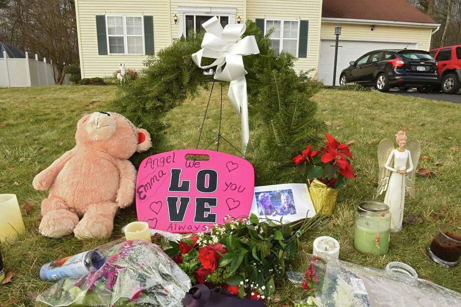 A small memorial is seen on the lawn of the house on Adams Circle where Steven Jones shot his wife, Jennifer, and 12-year-old daughter, Emma, before shooting himself last week on Monday, Dec. 17, 2018 in Ballston Spa, N.Y. (Lori Van Buren/Times Union) Photo: Lori Van Buren / 20045755A