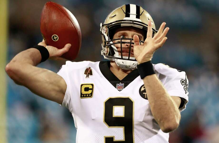 New Orleans Saints' Drew Brees (9) warms up before an NFL football game against the Carolina Panthers in Charlotte, N.C., Monday, Dec. 17, 2018. Photo: Jason E. Miczek, AP / Copyright 2018 The Associated Press. All rights reserved