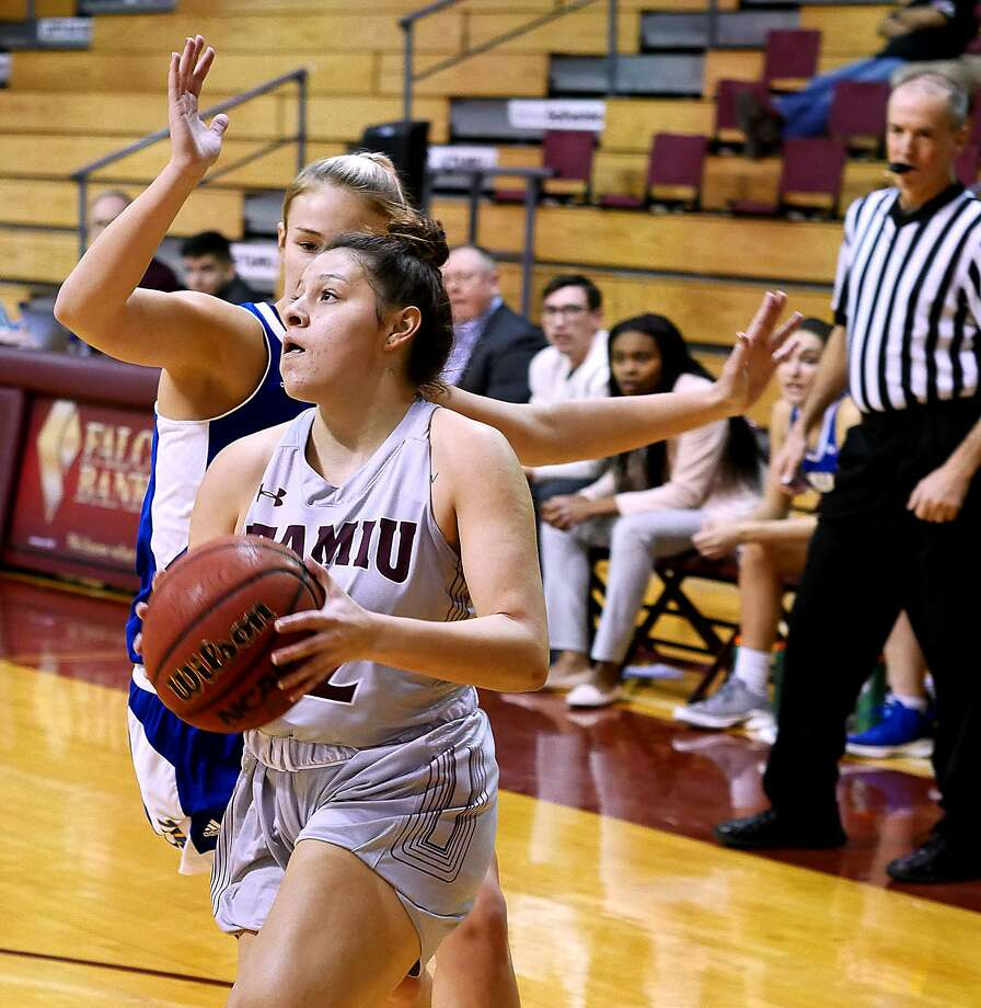 Vanessa Oyola had a career-high 15 points, but the Dustdevils lost 87-44 to Texas of the Permian Basin Saturday for their third-largest home defeat in school history. Photo: Cuate Santos /Laredo Morning Times File / Laredo Morning Times