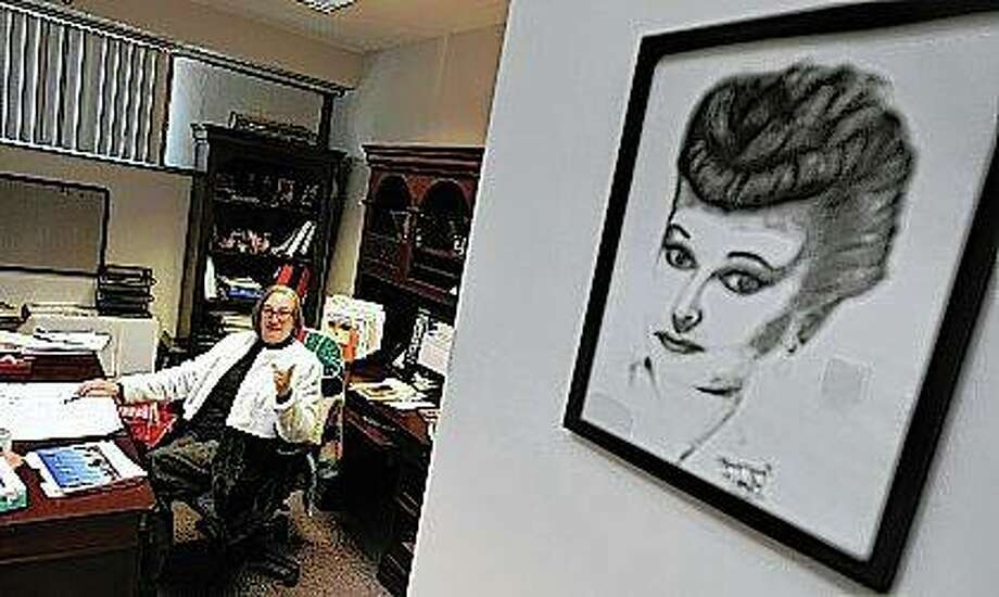 "Tazewell County Clerk Christie Webb's office featured plenty of family photos, but also a substantial amount of decor featuring Lucille Ball and the old ""I Love Lucy"" show, paying tribute to a fandom that dates back to her time as a girl."