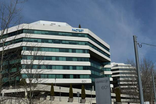 The headquarters of FactSet Research at 601 Merritt 7 in Norwalk, Conn.