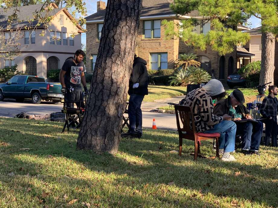 Director Terence Nance and a production company take over a residential street in 3rd Ward to shoot Solange's new video. Photo: Courtesy Photos