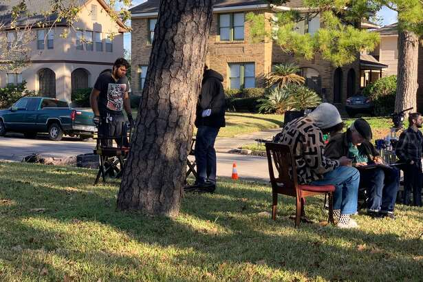 Director Terence Nance and a production company take over a residential street in 3rd Ward to shoot Solange's new video.