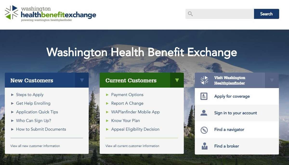 Washington Health Benefit Exchange's homepage