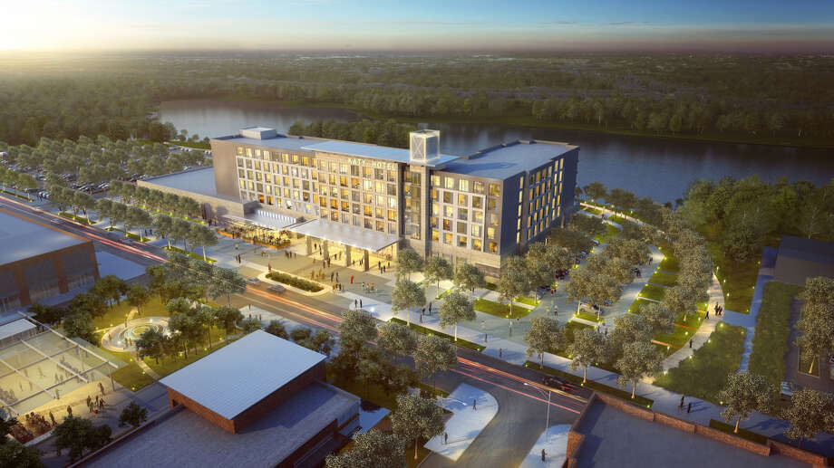 A rendering shows plans for the Katy Boardwalk District. Photo: Katy Boardwalk District