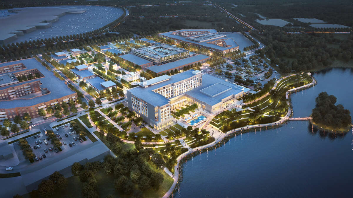 A rendering shows plans for the Katy Boardwalk District.