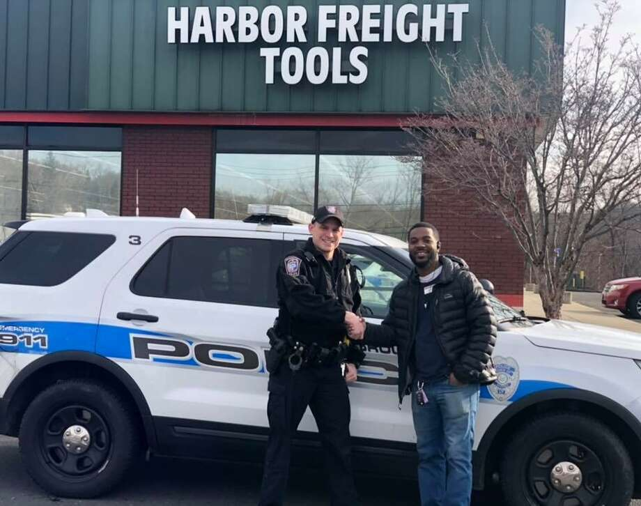 Harbor Freight Tools donated bolt cutters to Brookfield police. Photo: / Contributed Photo /Brookfield Police Department