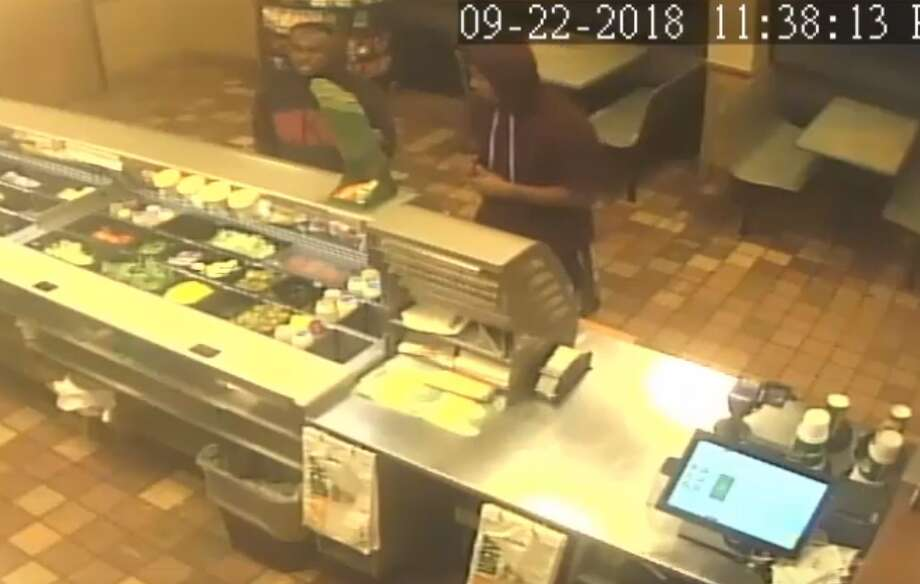 PHOTOS: Subway worker fends off robbers with box cutterA Subway worker fended off robbery suspects with a box cutter in September. The incident was captured in surveillance footage released by HPD on Tuesday.>>> See a play-by-play of the incident Photo: Houston Police Department