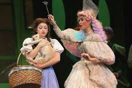 """Dorothy and Glinda the Good Witch in """"The Wizard of Oz."""""""