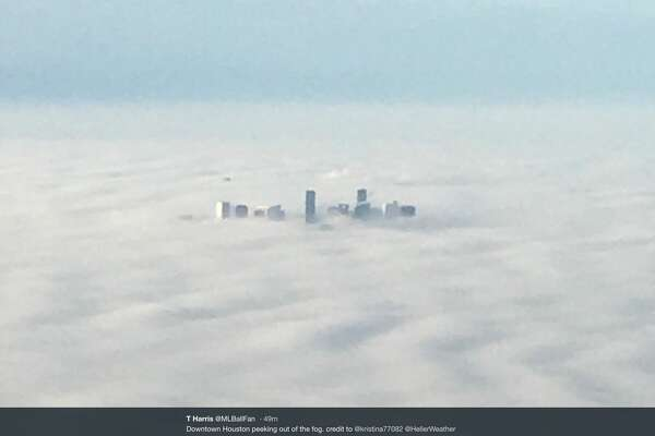 Houstonians took to Twitter after dense fog descended on the city Tuesday, Dec. 18, 2018.