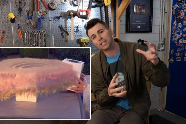 Former NASA engineer Mark Rober built a hi-tech glitter-bomb prank targeting parcel thieves.