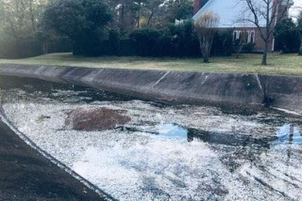 TPWD officials said the hundreds of fish reported dead were American gizzard shad. The fish die when warmer weather creates low dissolved oxygen levels, officials said.