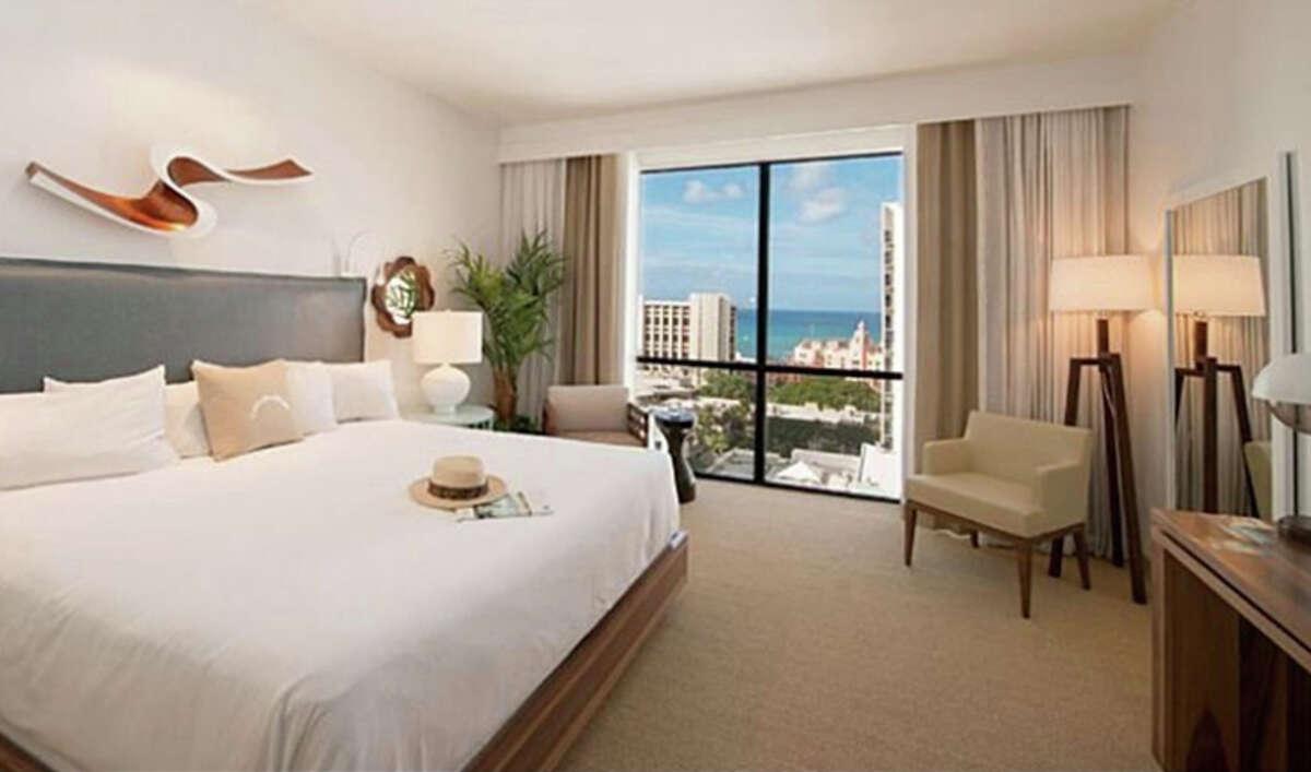 A room at the Hyatt Centric Waikiki in Honolulu.