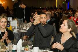 Steph Curry attends Warriors Holiday Hoops Luncheon on December 11th 2018 at Fairmont Hotel SF in San Francisco.