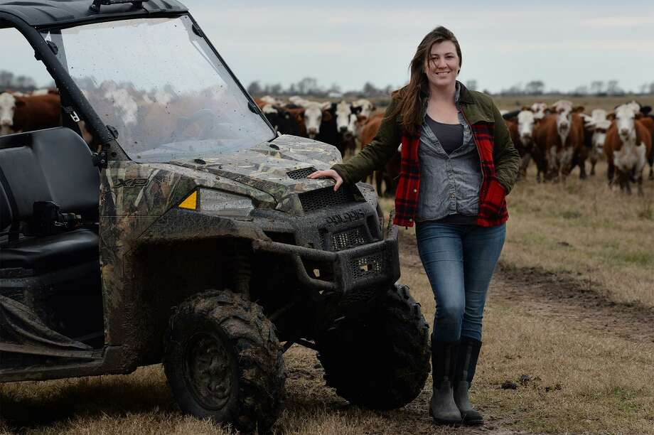 Rachel Wilson raises grass-fed beef at her ranch near Labelle Road. The local rancher sells the meat to local consumers and restaurants.   Photo taken Friday, 12/14/18 Photo: Guiseppe Barranco/The Enterprise, Photo Editor / Guiseppe Barranco ©