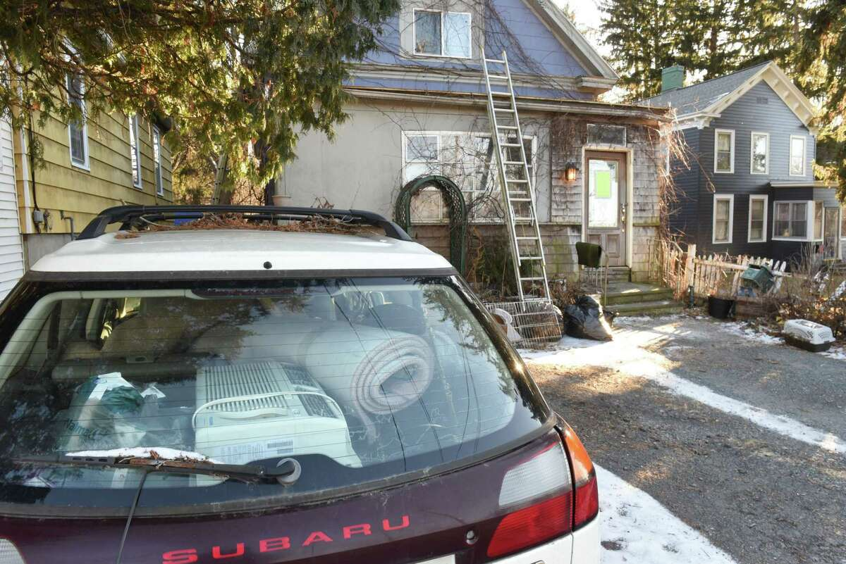 Exterior of house at 92 Campbell Ave. where police found found dozens of animals in the home on Tuesday, Dec. 18, 2018 in Troy, N.Y. The animals have been removed and are being cared for. (Lori Van Buren/Times Union)