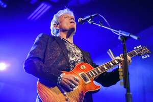 Don Felder, former lead guitarist of The Eagles, performs during the Sunny California Gala on Saturday, March 24, 2018, at the Cynthia Woods Mitchell Pavilion.