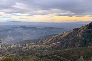 The view from the North Ridge Trail on Mount Diablo looking southwest