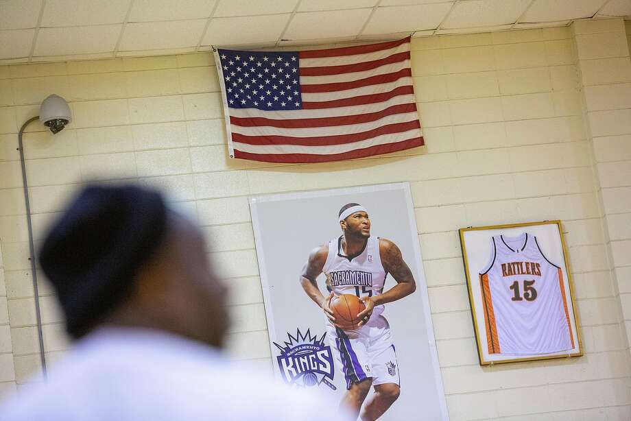 Carlos Walker shoots some hoops at LeFlore High School in Mobile, Ala., which the Warriors' DeMarcus Cousins attended. Photo: Jeff Haller / Special To The Chronicle