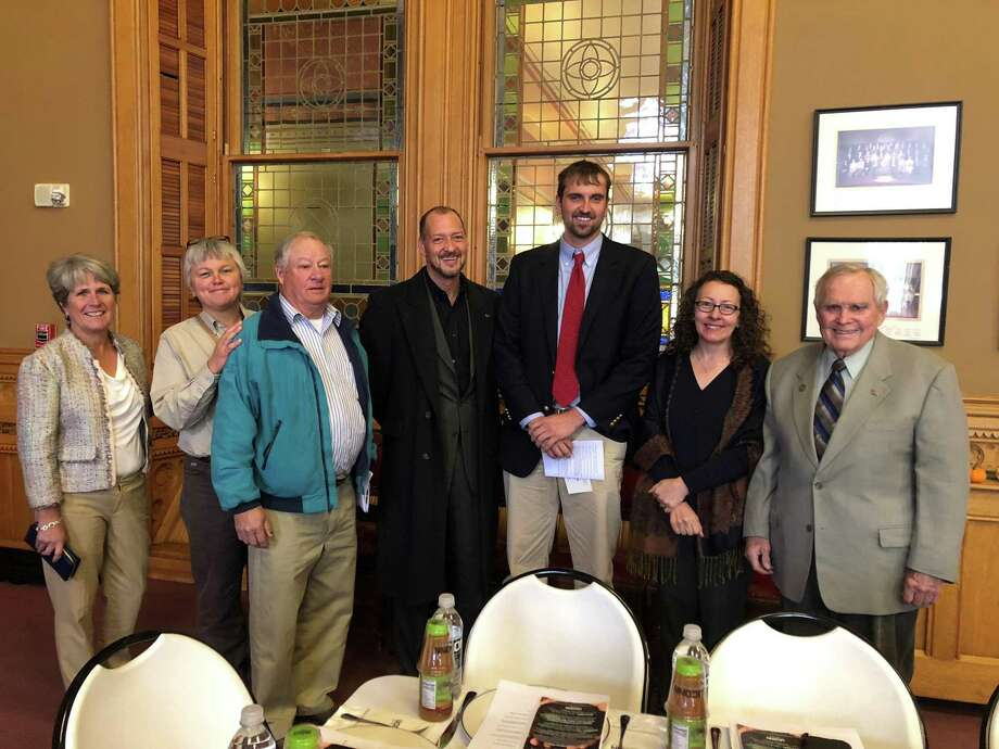 Roxbury Land Trust board members, staff and farmers attended the Pathfinder Award ceremony in Hartford recently. Photo: Roxbury Land Trust