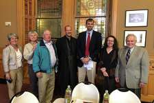 Roxbury Land Trust board members, staff and farmers attended the Pathfinder Award ceremony in Hartford recently.