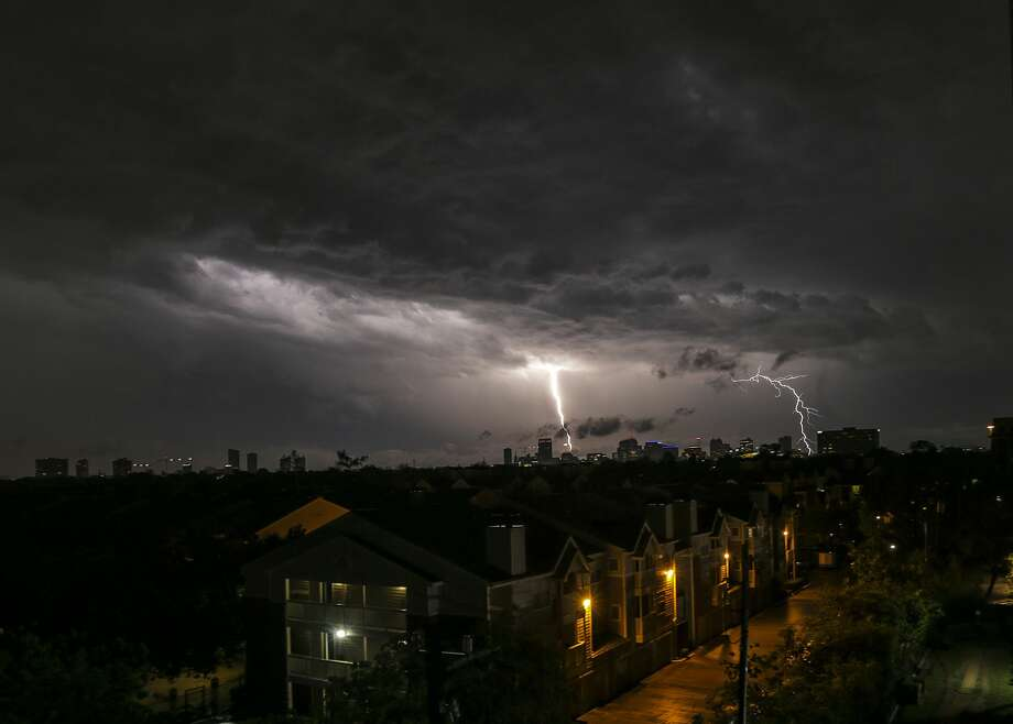 Here are some tips to follow when lightning strikes your home, according to the Montgomery County Fire Marshall's Office. Photo: Elizabeth Conley/Houston Chronicle